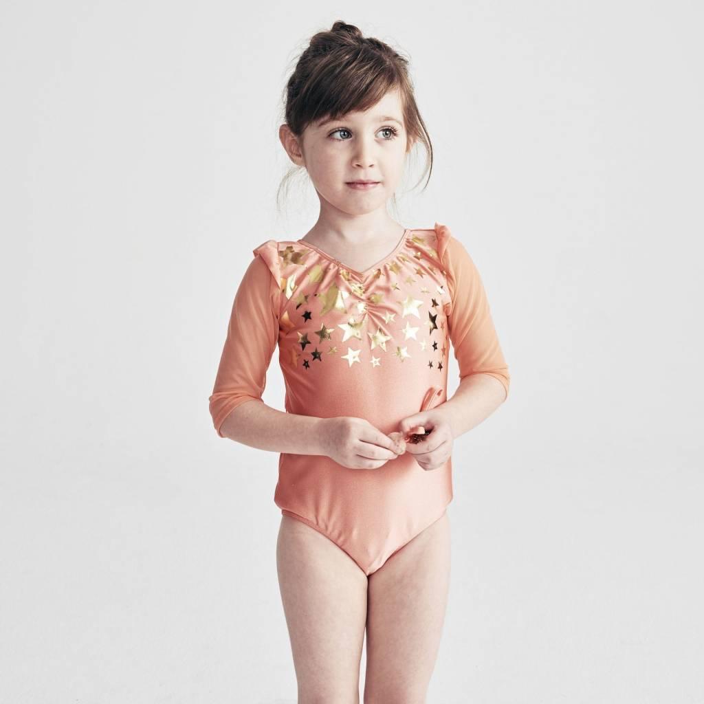 ATSUYO ET AKIKO violetta skirt in peach - size L (6-8 y.)