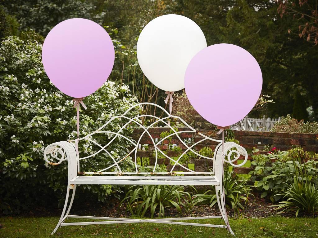 GINGERRAY balloons - huge - white & pink