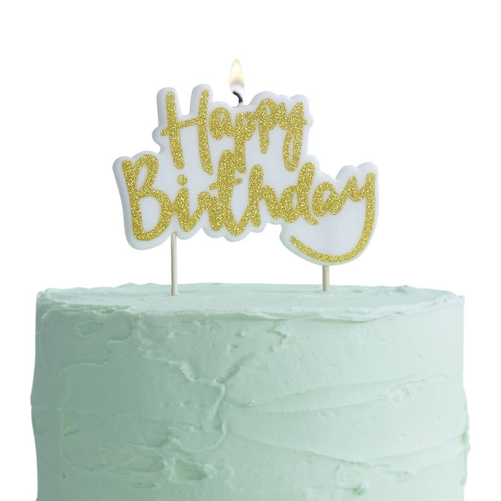 GINGERRAY Candles - Happy Birthday - Gold
