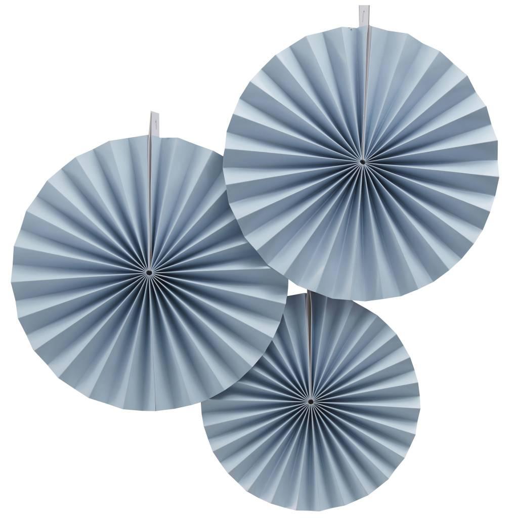 GINGERRAY Fan Decorations - Blue