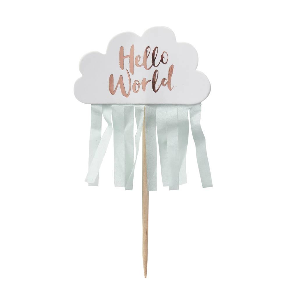 GINGERRAY Hello World - Cupcake Picks