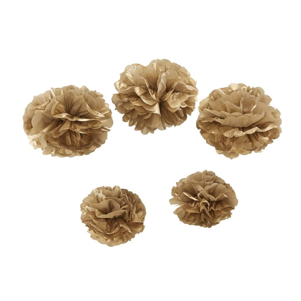 GINGERRAY Paper Pom Poms - Gold
