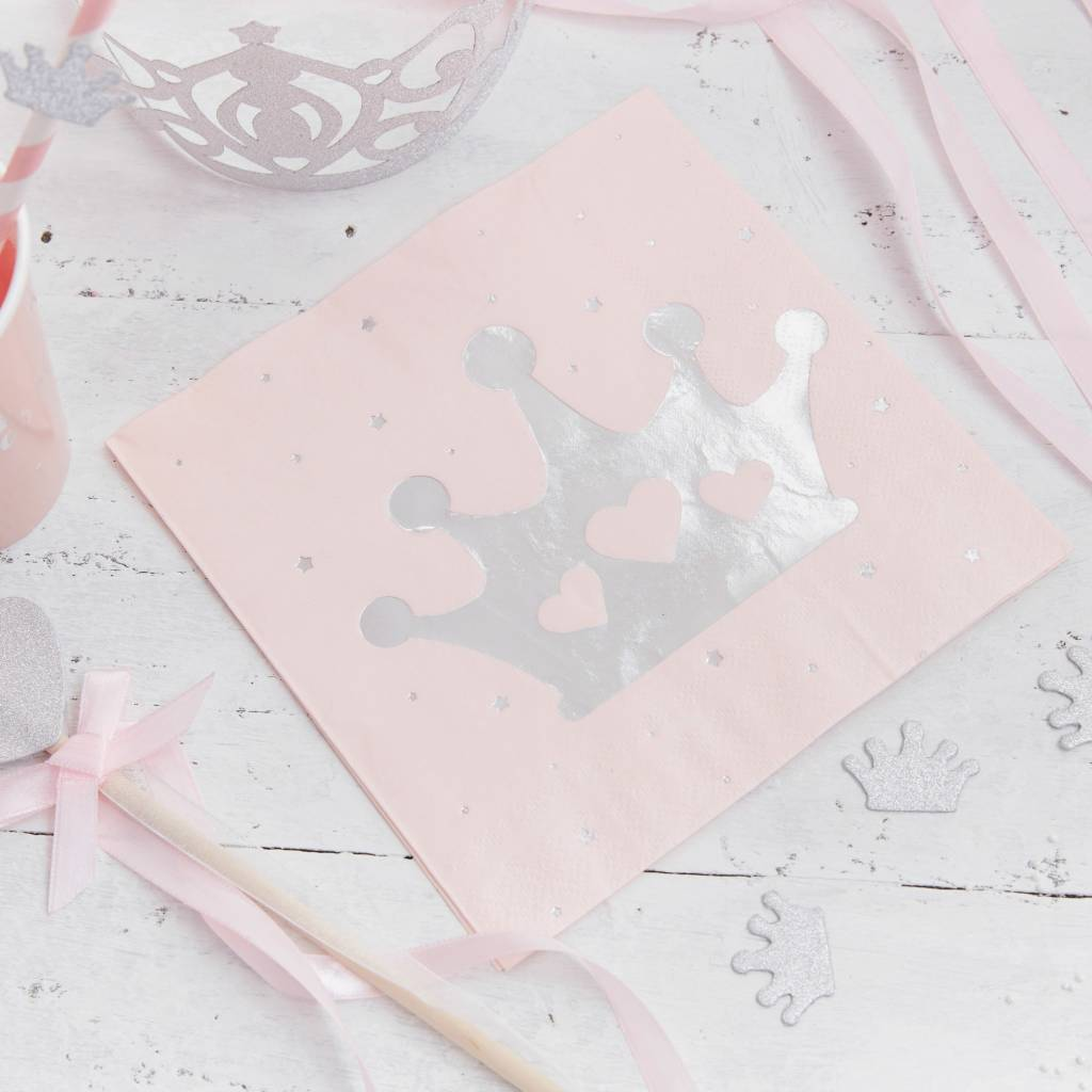 GINGERRAY Paper Napkins - Crown - Foiled