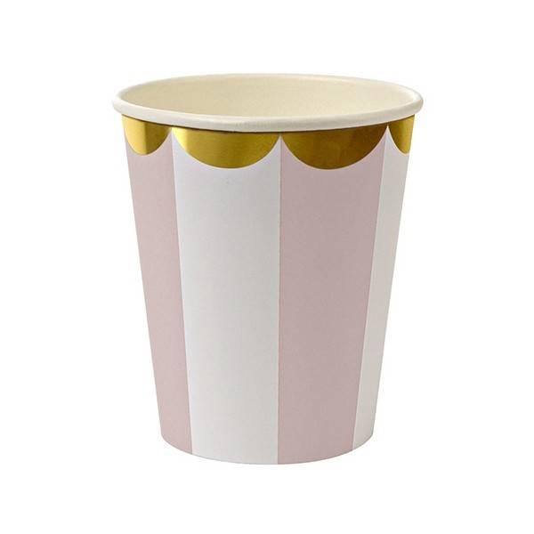 MERIMERI Dusty pink striped cups