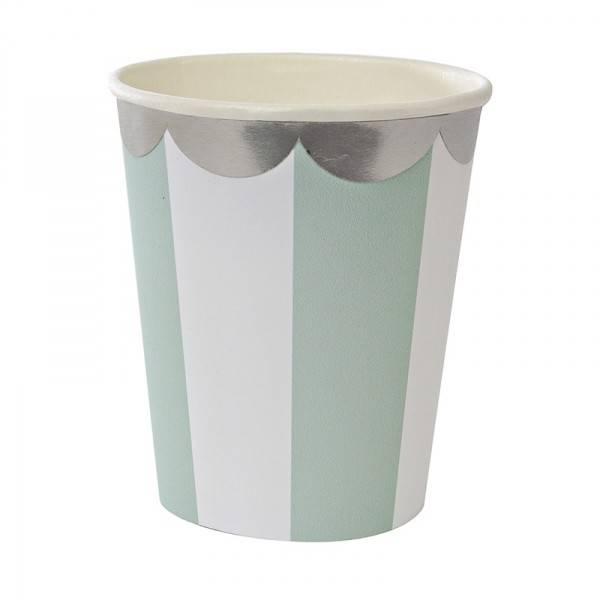 MERIMERI Toot sweet aqua stripe party cup
