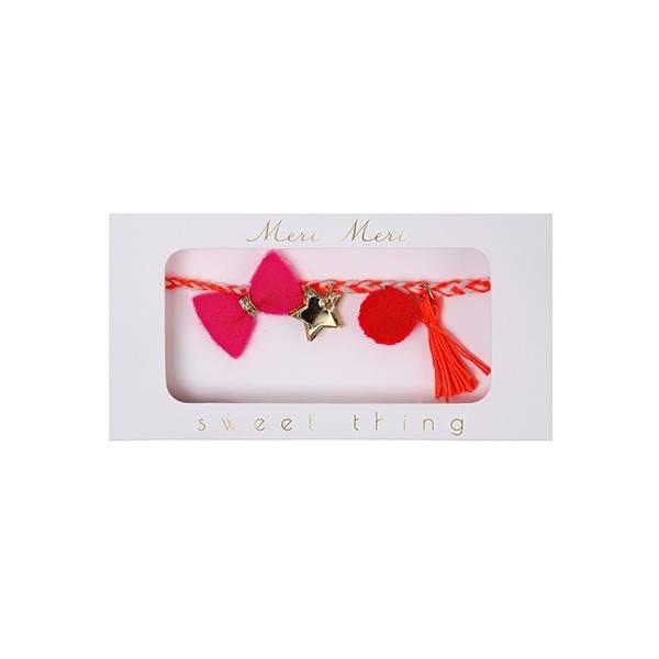 MERIMERI pink plaited bracelet