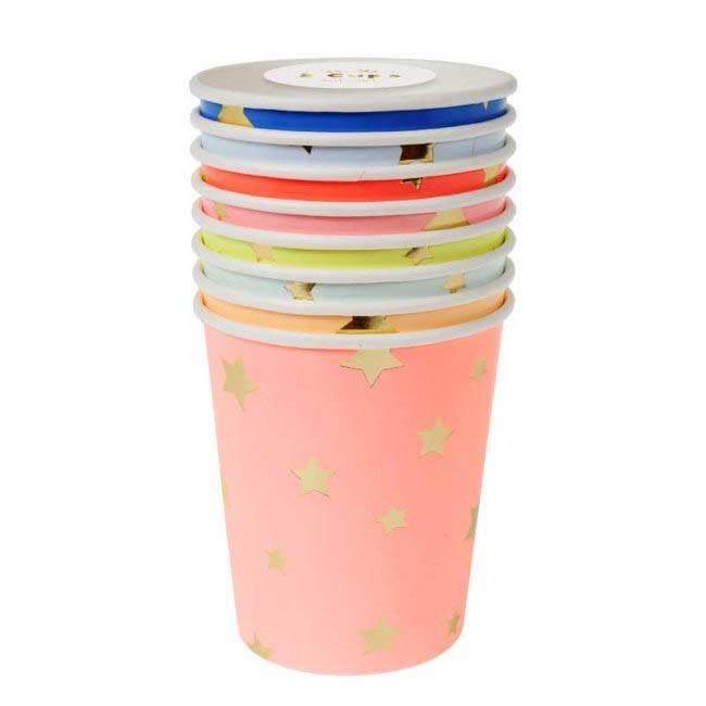 MERIMERI Jazzy star party cups