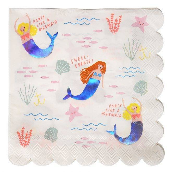 MERIMERI Let's be mermaids napkins