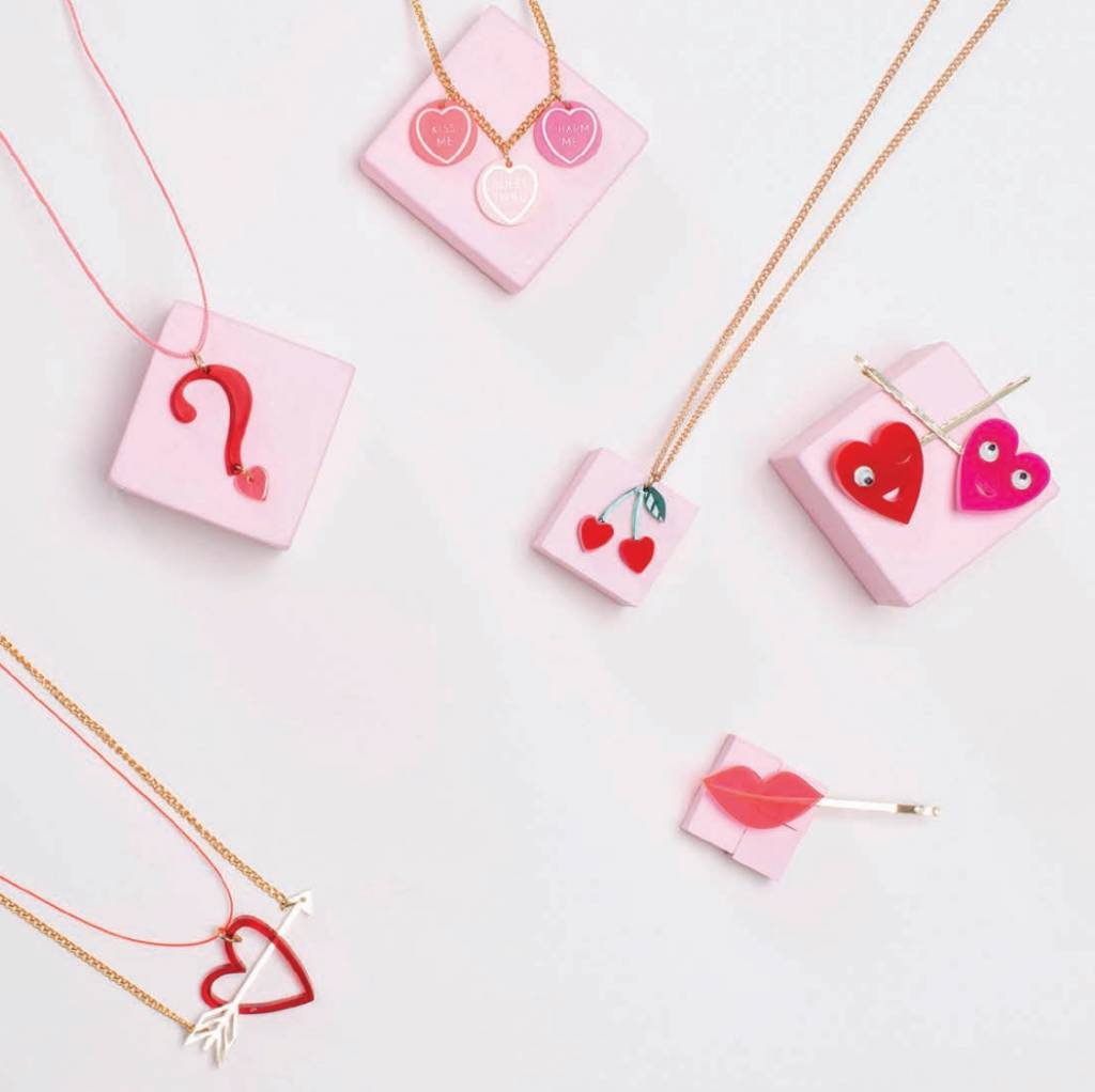MERIMERI Heart hair clips