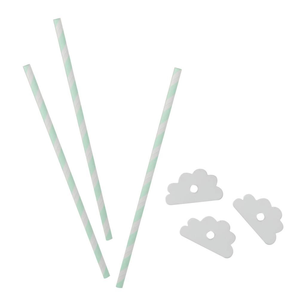 GINGERRAY hello world paper straws
