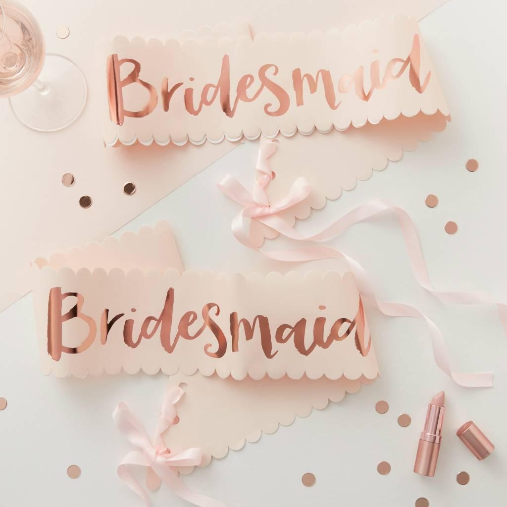 GINGERRAY bridesmaid sash - 2 pack