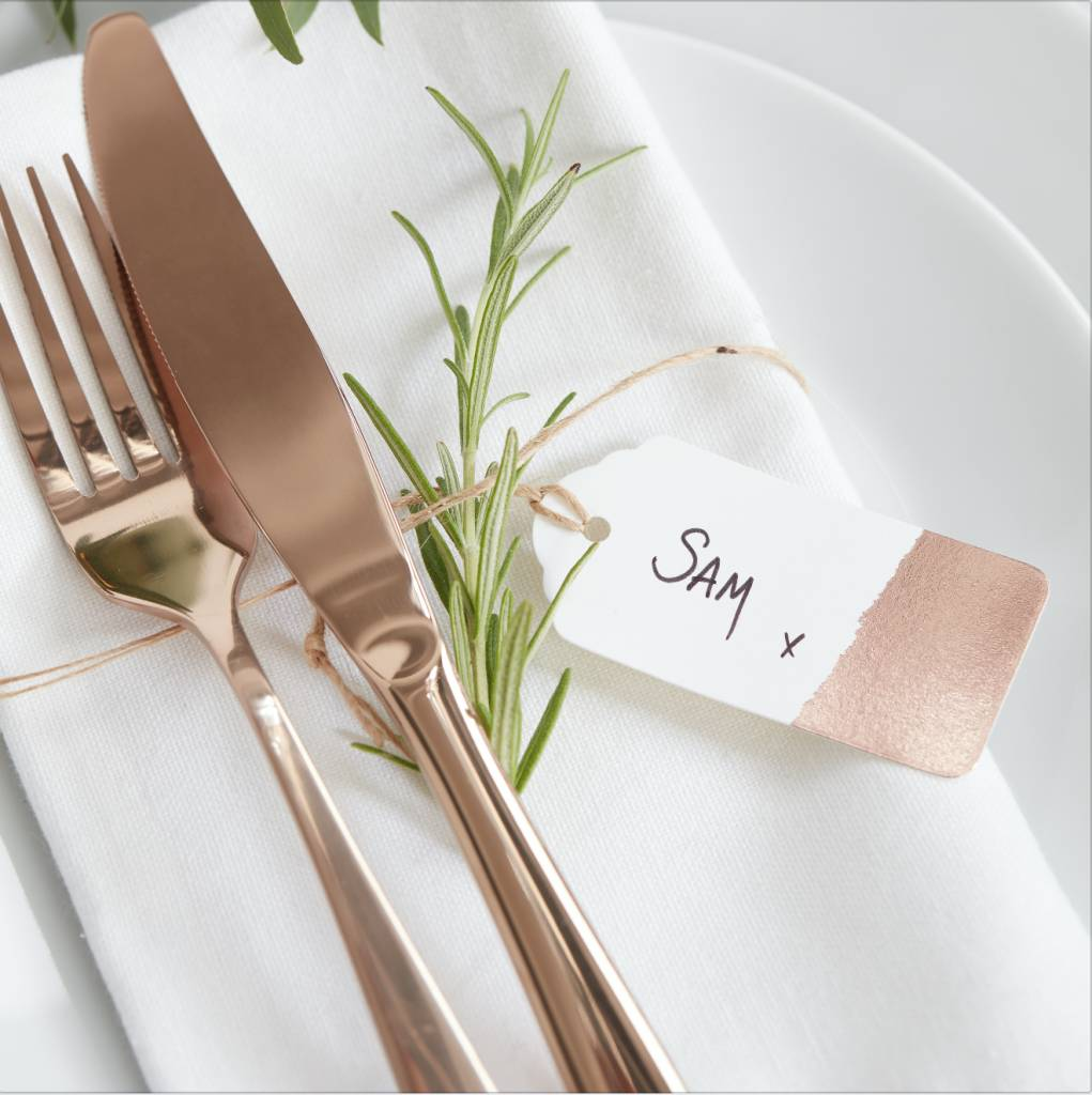 GINGERRAY luggage tags dipped rose gold