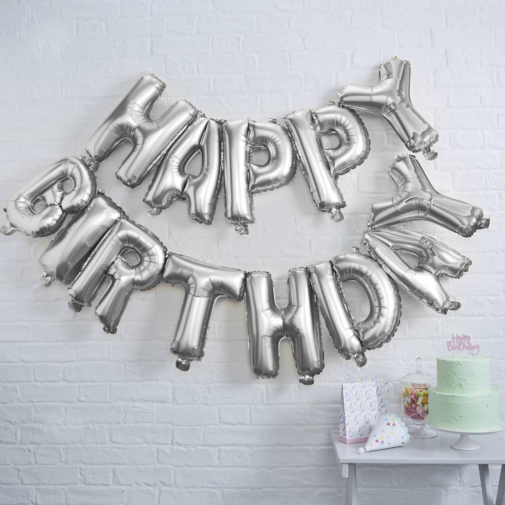 GINGERRAY happy birthday foil balloon bunting