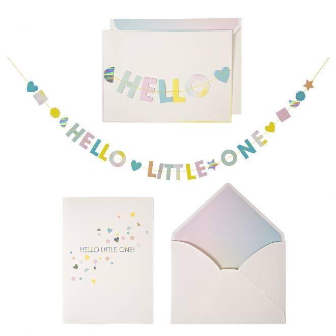 MERIMERI hello little one garland card