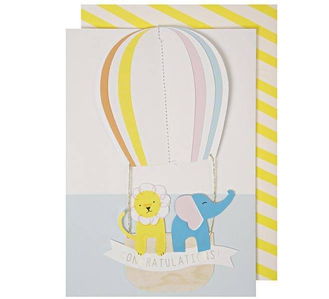 MERIMERI hot air balloon card