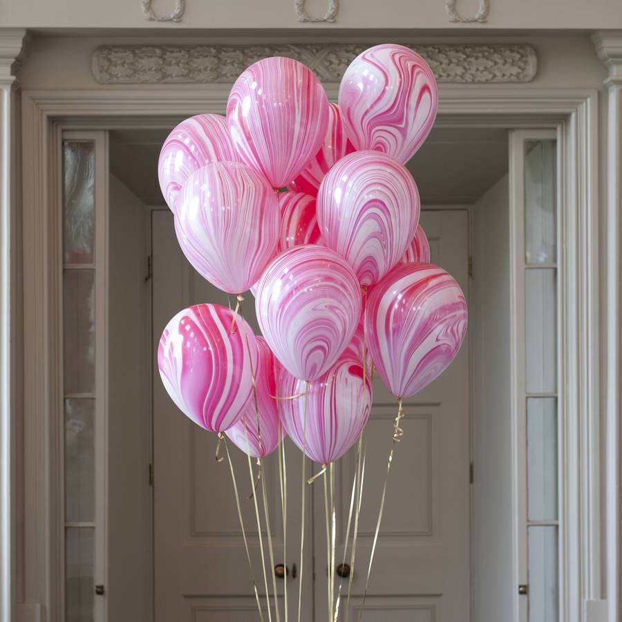 ABC 5 marble balloons pink