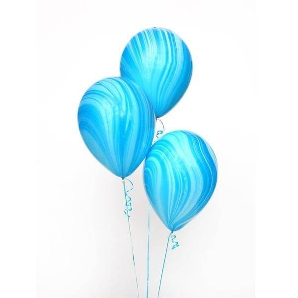 ABC 5 marble balloons blue
