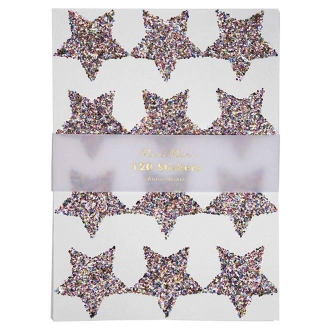 MERIMERI chunky glitter star stickers