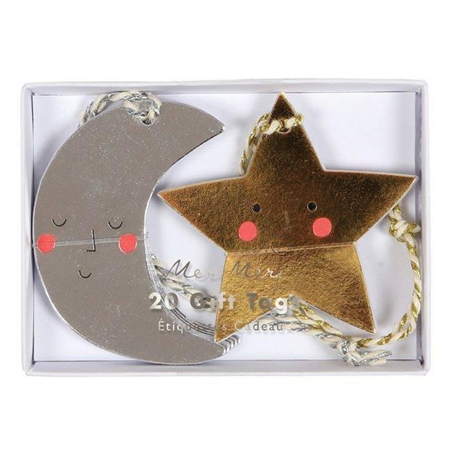 MERIMERI moon & star gift tags