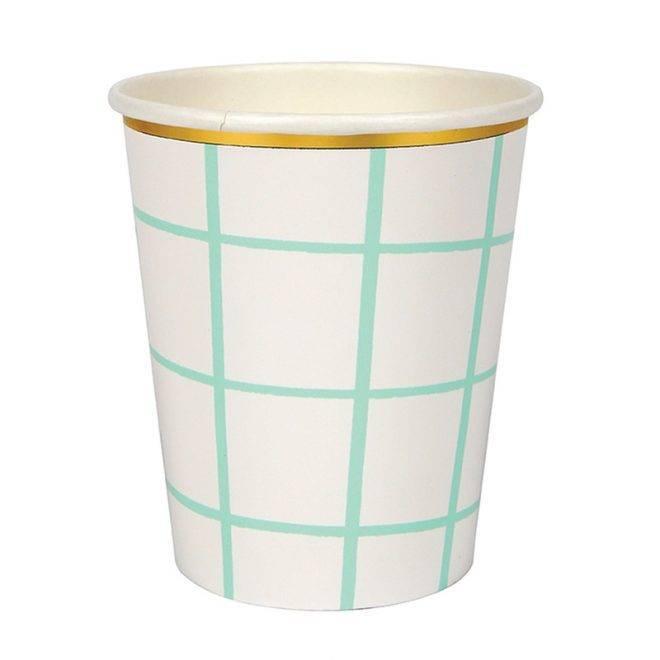 MERIMERI mint grid cups