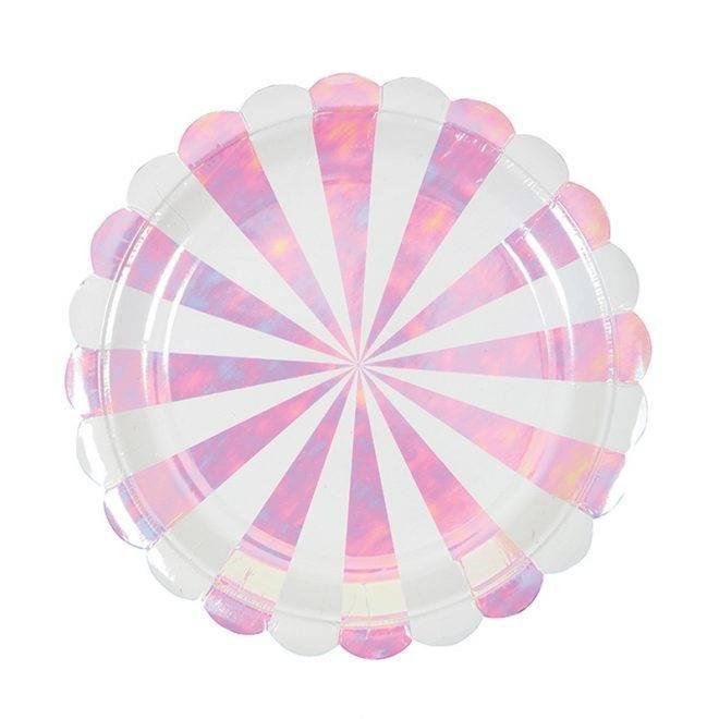 MERIMERI iridescent striped plates S