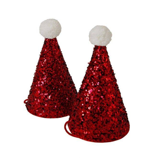 MERIMERI mini glitter Santa hats