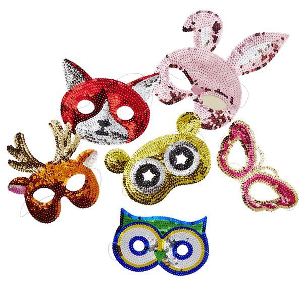 RICE kids sequin mask owl