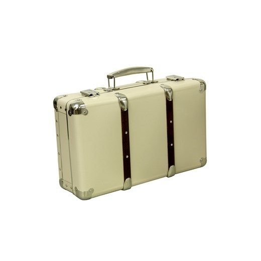 KZT riveted suitcase 30cm ivory