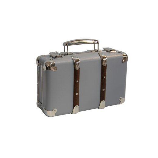 KZT riveted suitcase 30cm light grey