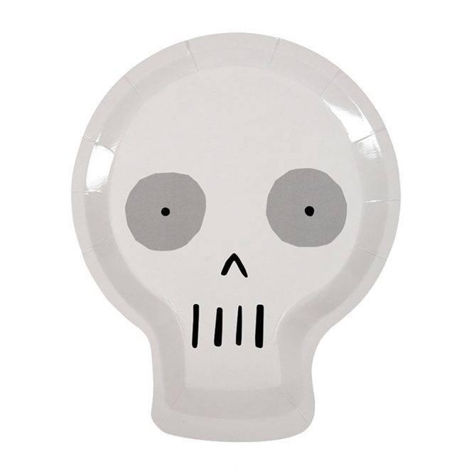MERIMERI Halloween skull plates