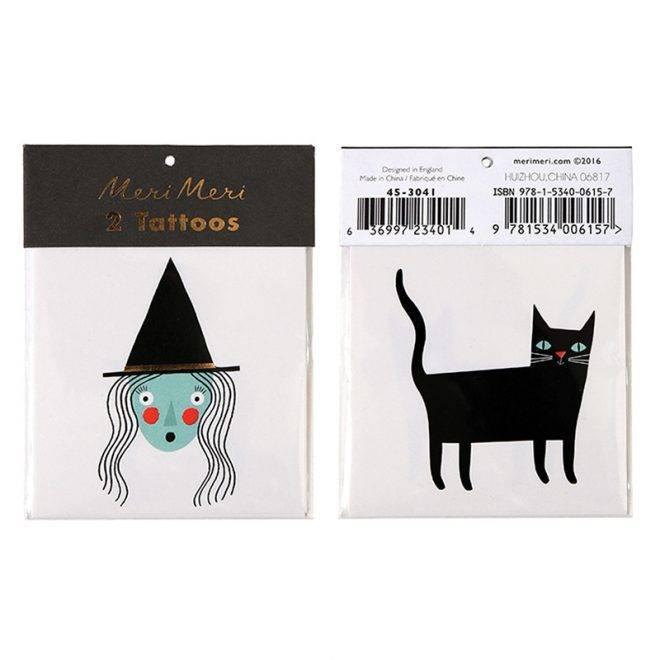 MERIMERI Witch & cat tattoos