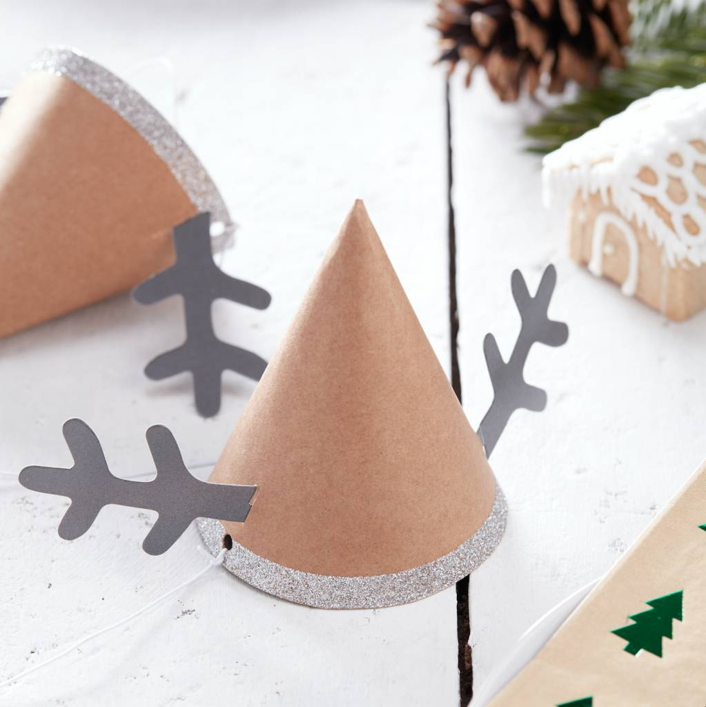 GINGERRAY reindeer party hats