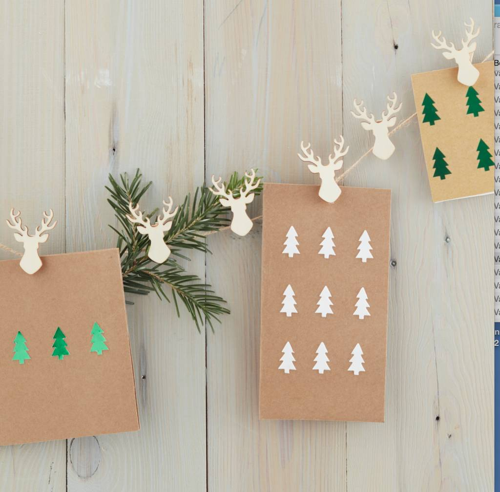 GINGERRAY card holder stag pegs