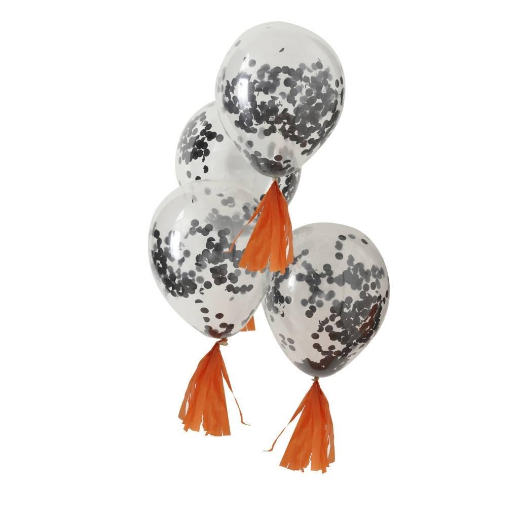 GINGERRAY confetti balloons black