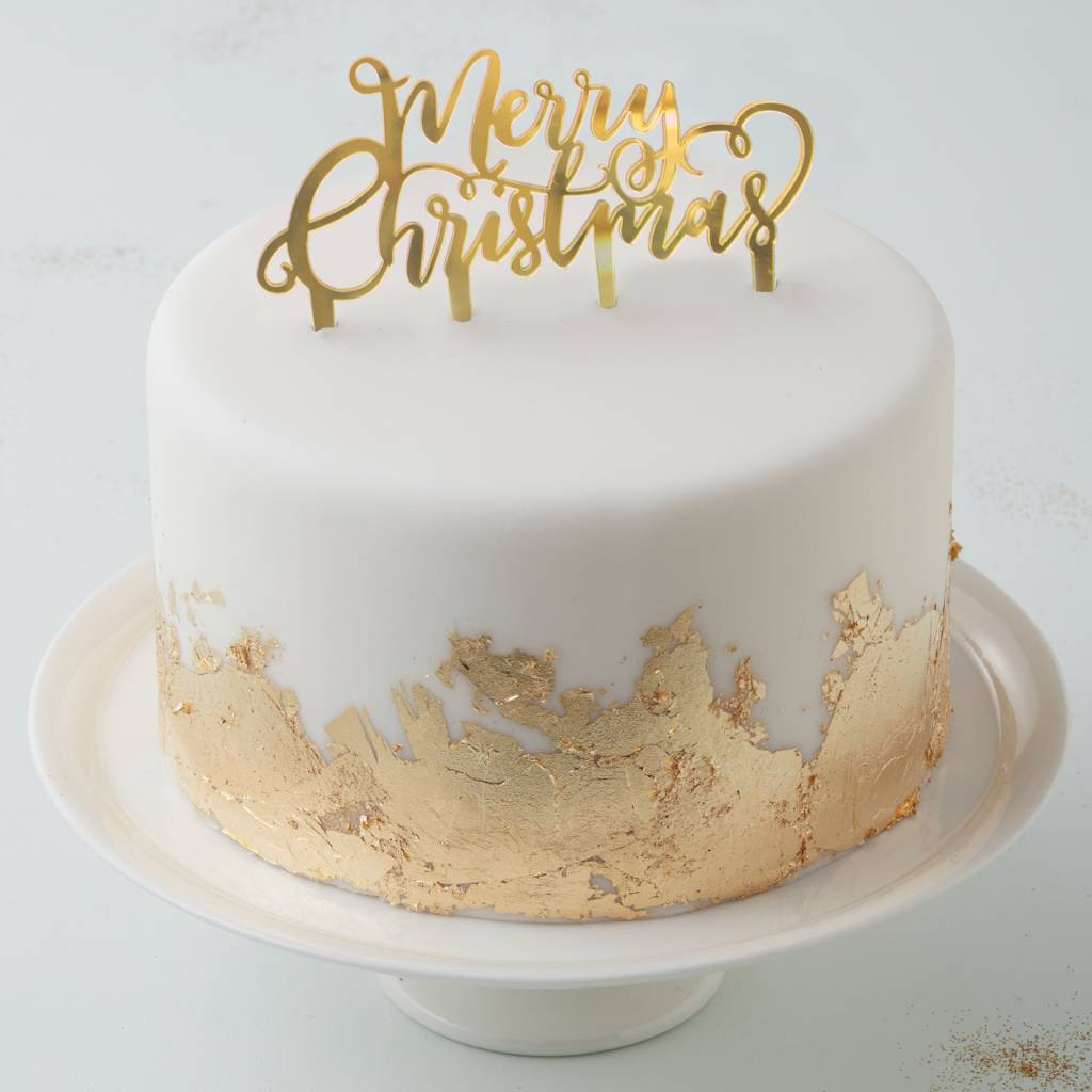 GINGERRAY cake topper merry christmas