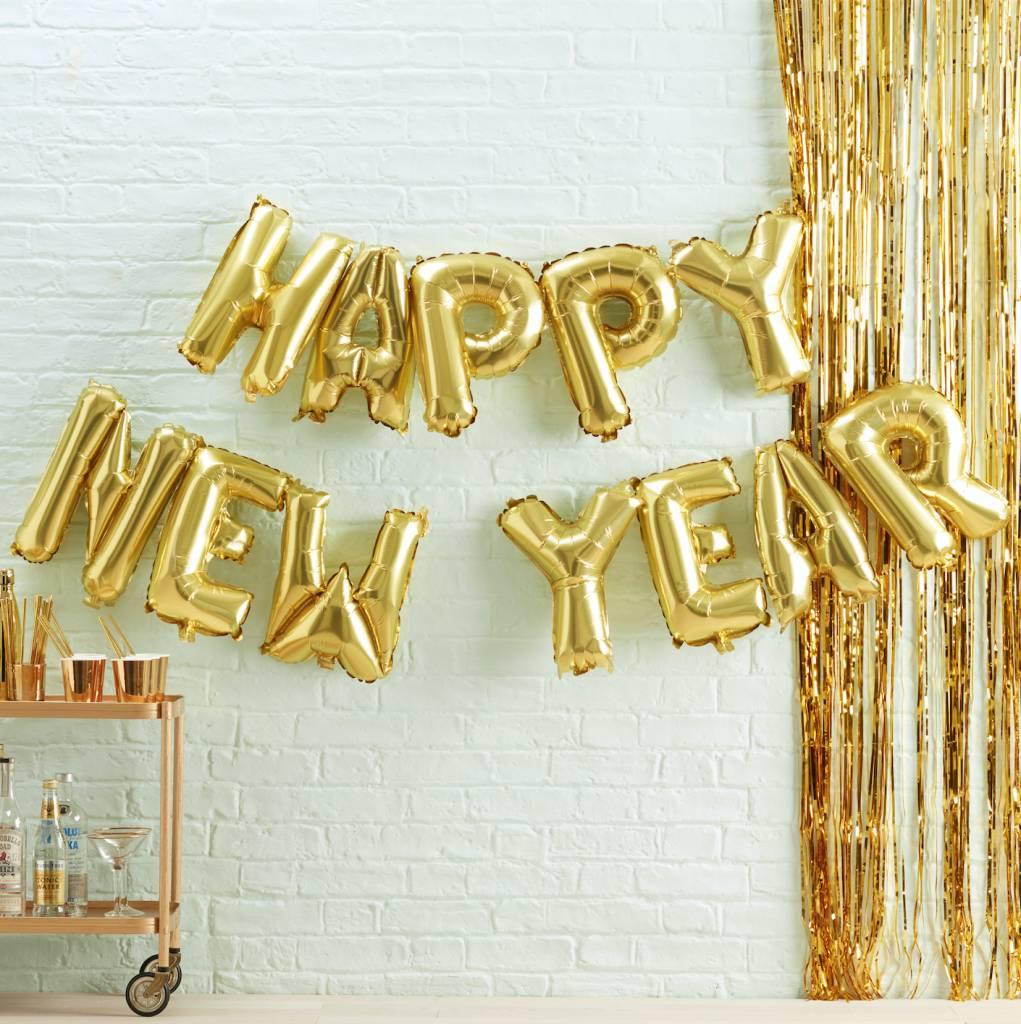 GINGERRAY bunting balloon happy new year