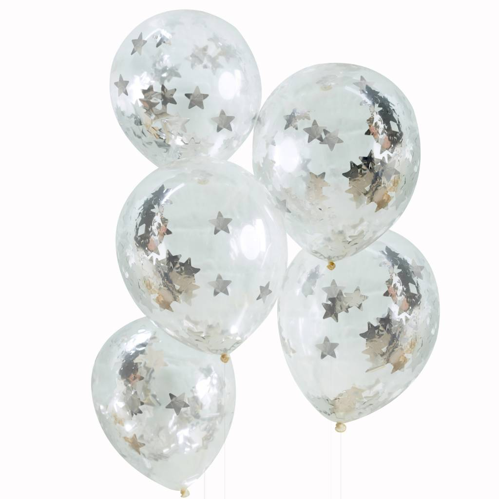 GINGERRAY confetti balloon silver star