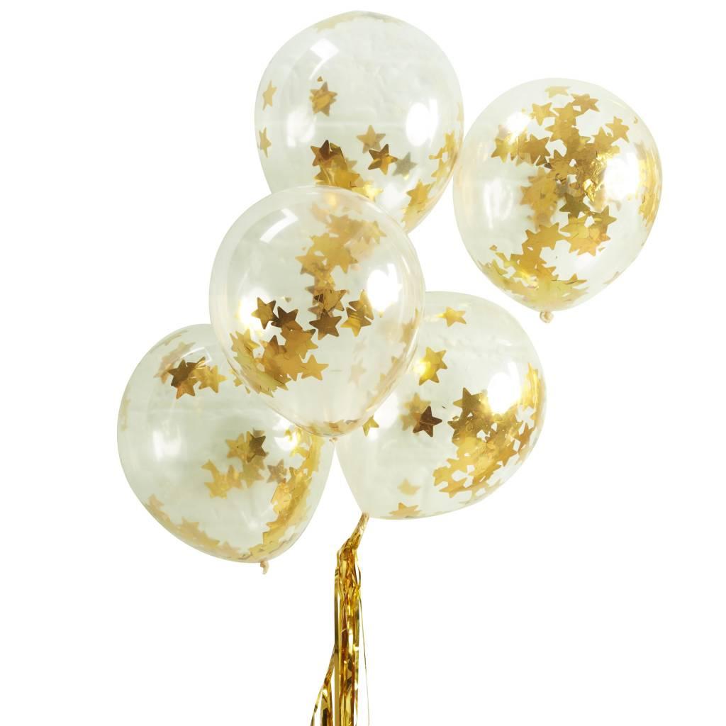 GINGERRAY confetti balloon gold star