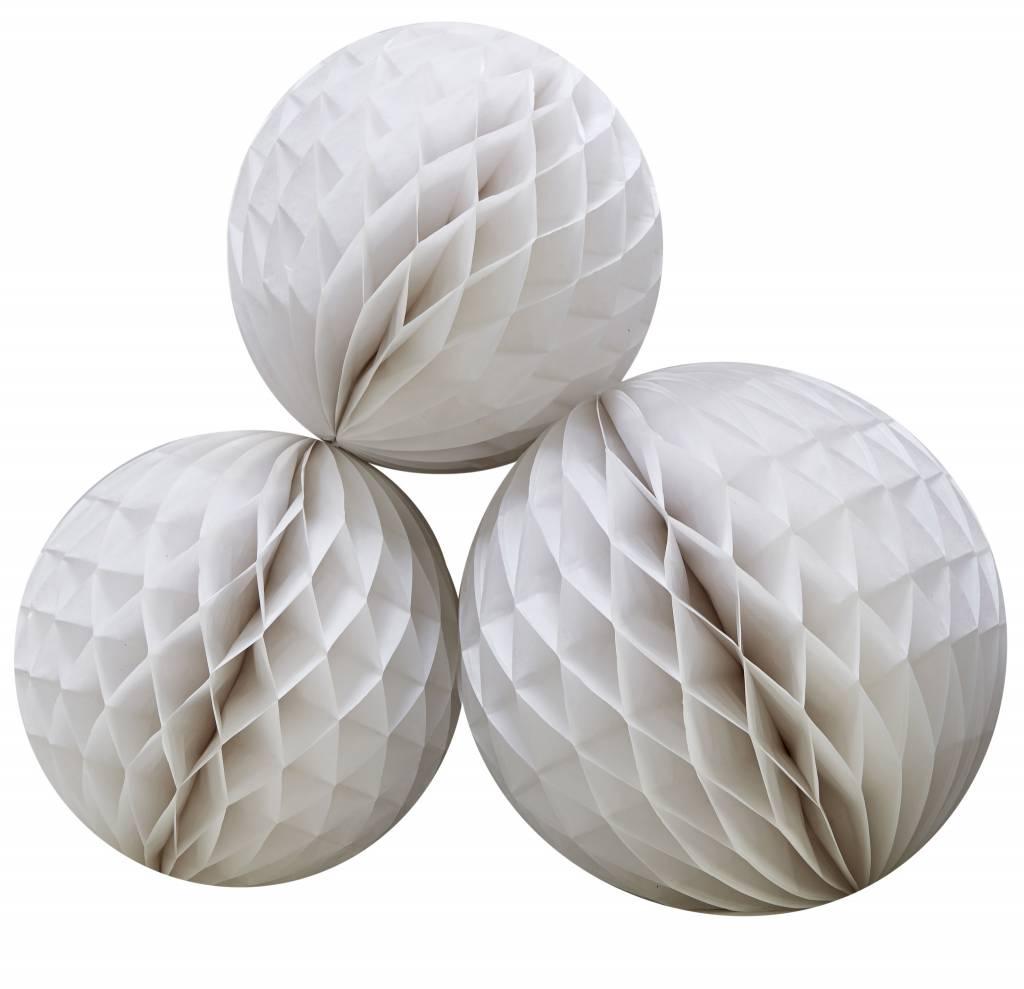 GINGERRAY honeycomb balls white