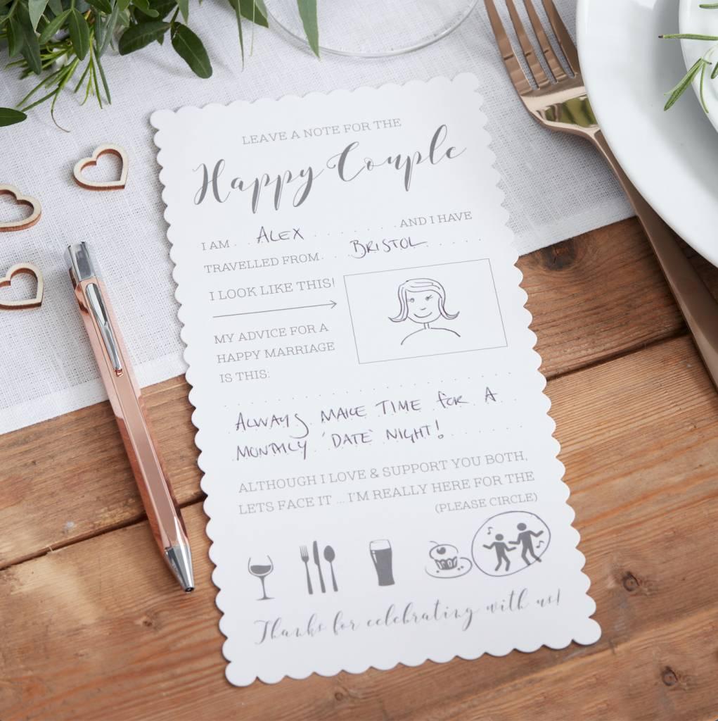 GINGERRAY Wedding Advice Card