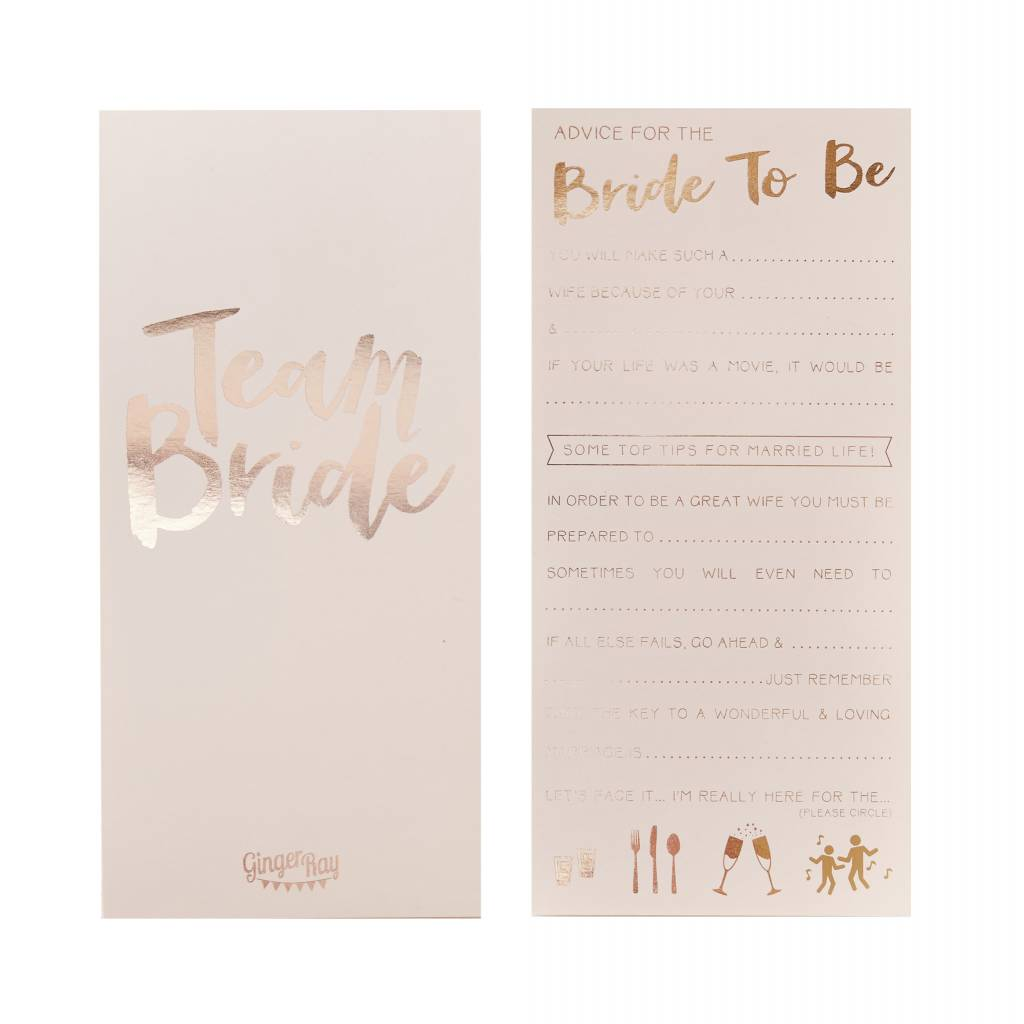 GINGERRAY Advice for the Bride to Be Card