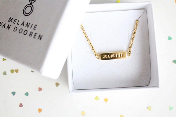 MVD tailor made bar necklace gold plated