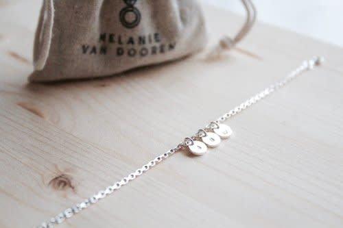 MVD charm bracelet two charmes silver