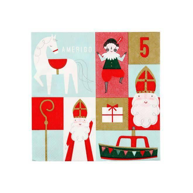 MERIMERI Sinterklaas scene napkins