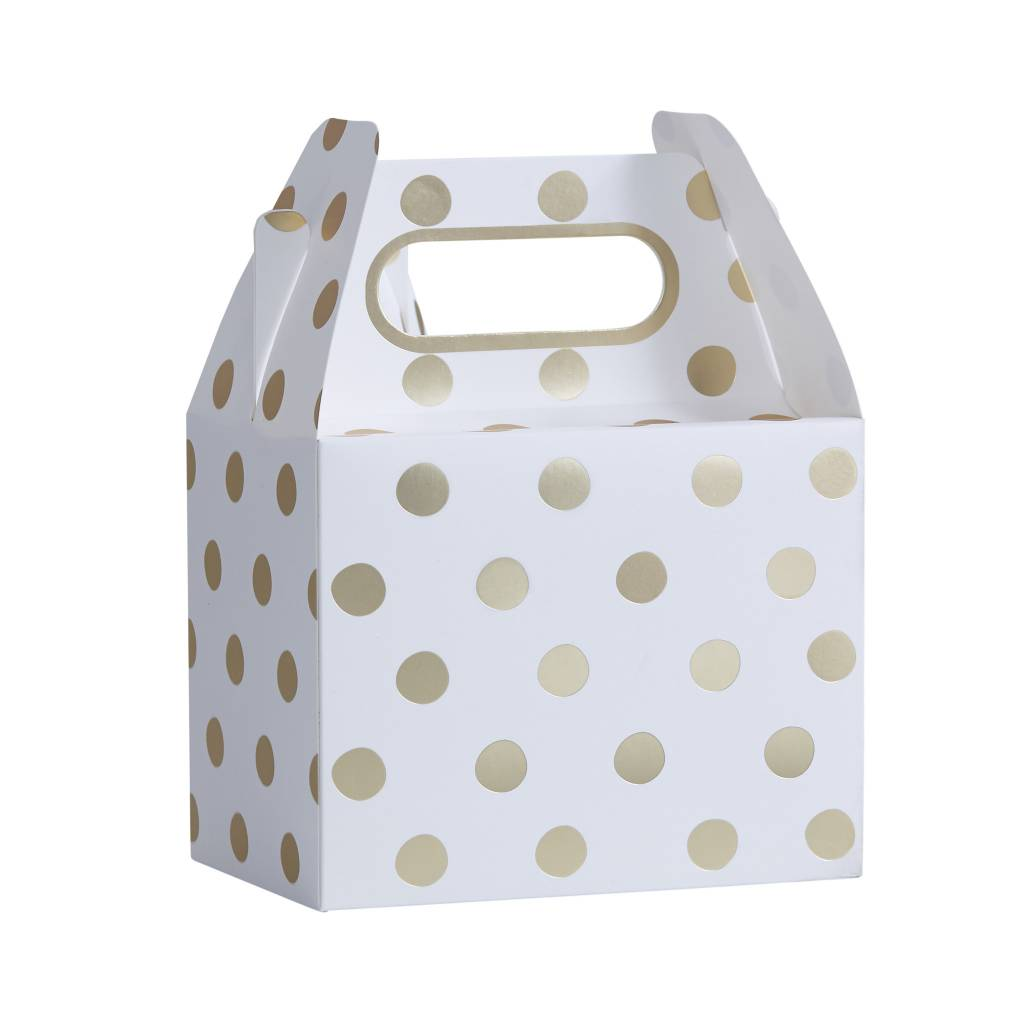 GINGERRAY Gold Foiled Polka Dot Party Boxes