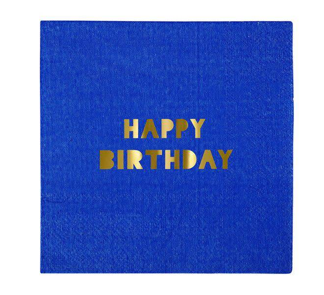 MERIMERI Happy birthday small napkins