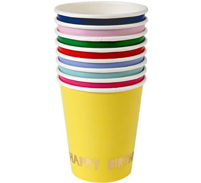 MERIMERI Happy birthday party cups