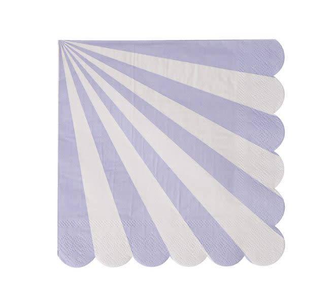 MERIMERI Lavender stripe napkins small