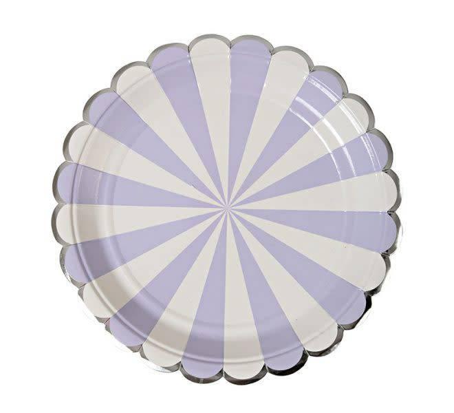 MERIMERI Lavender stripe plates small
