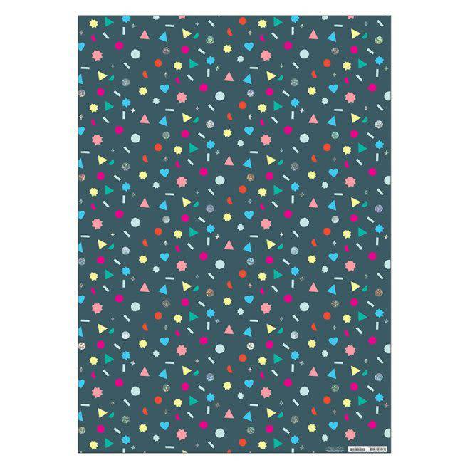 MERIMERI Geometric shapes wrapping paper